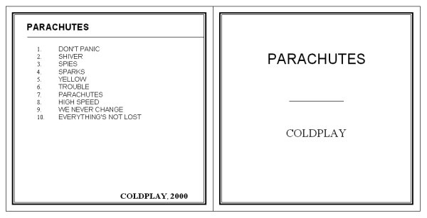 cd back cover template